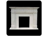 Fangshan White Marble Fireplace With